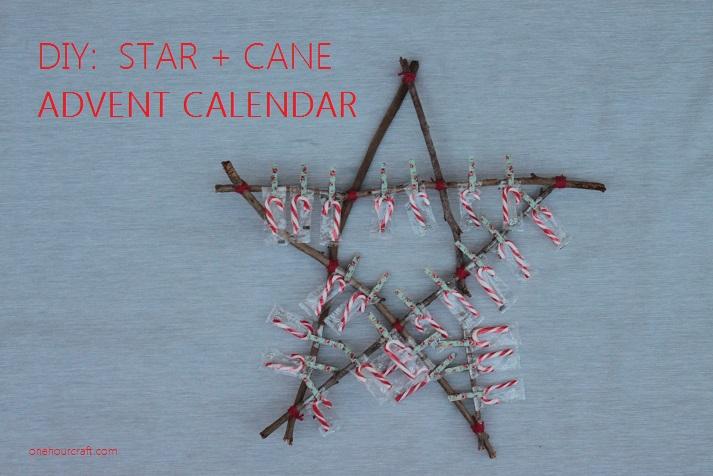 Star and Cane Advent Calendar