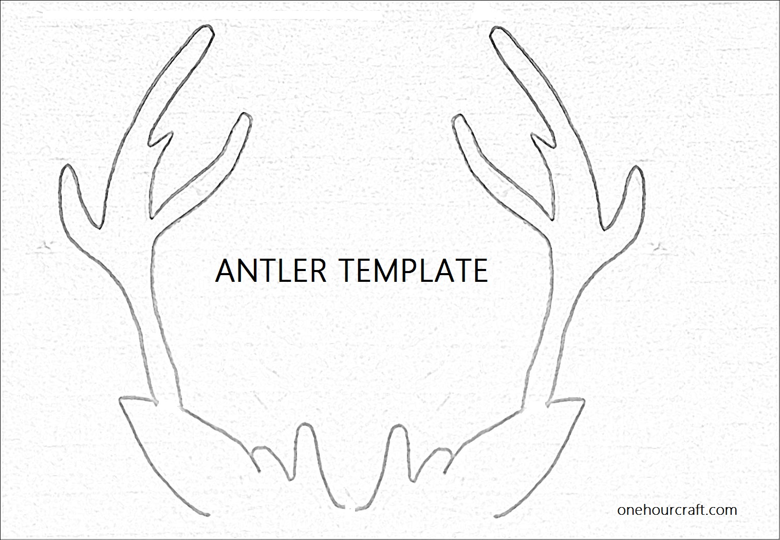 Reindeer Antlers Cut Out How to: antler christmas card (+ template ...
